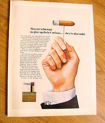 1968 Corina Larks Cigar AdMen are reluctant to give up their Corinas