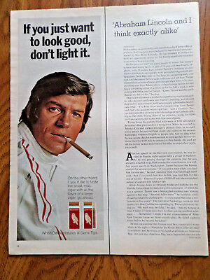 1971 White Owl Miniatures Cigar Ad If you Just want to look good Don't Light It