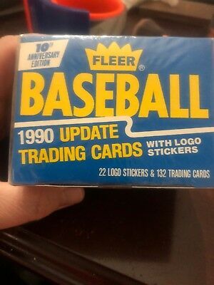 1990 Fleer Update Baseball 10Th Anniversary Edition Factory Sealed Card Set