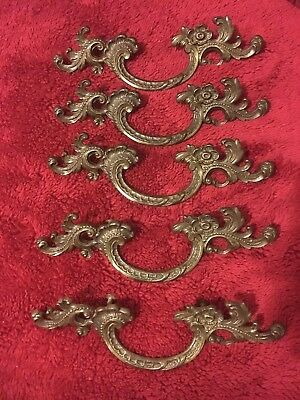 """Vintage Look French Provincial Drawer Pulls 3"""" Lot Of 5"""