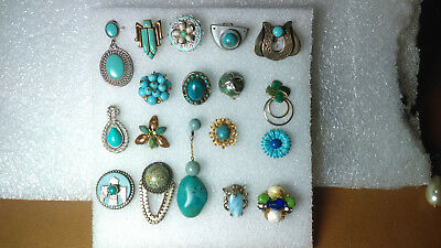 Vintage to Now Single Earring Lot. 19 TURQUOISE/ BLUE