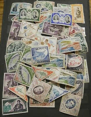 Monaco  Stamps Neat  Lot Mostly Mint