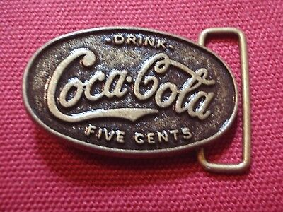 Coca-Cola 2 Belts Buckles  (One Special Numeroted Edition) (One Vintage 1970)