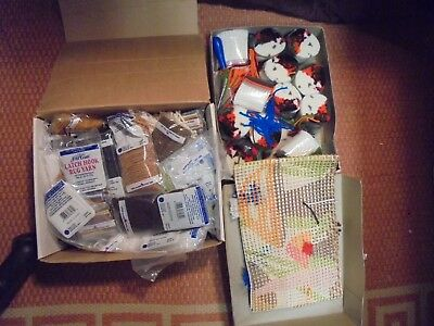 2 Boxes of Craft Latch Hooking pre-cut Yarn