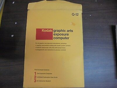 VINTAGE Kodak Graphic arts exposure computer Q-12