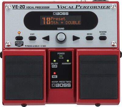 Boss VE-20 Vocal Voice Performer Pedal, New!