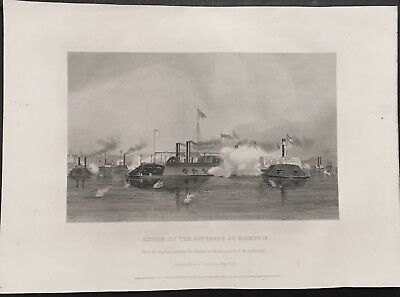 Exquisite Original Antique Art Civil War Etching Of A Painting By Alonzo Chappel