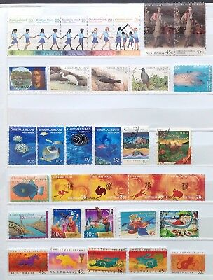 Christmas Island Fine Used Stamps (100 stamps & 1 M/S)