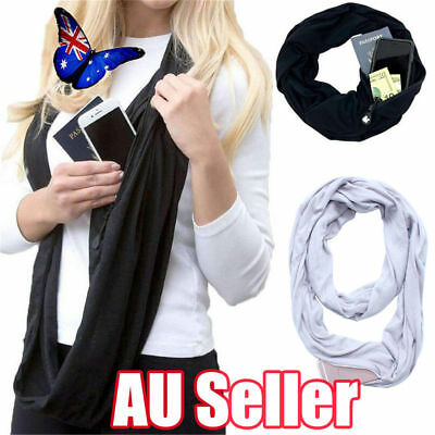 Convertible Journey Infinity Scarf With Pocket Multi-use Scarf With Pocket  JO