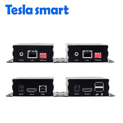 Over IP 120M NETWORK KVM HDMI Extender by CAT5e/6 TCP/IP 1080P HDCP EDID TMDS