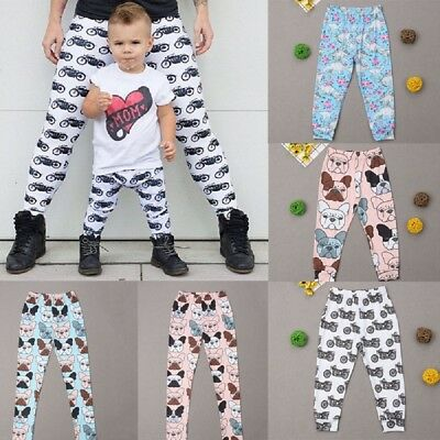 AU Seller Family Matching Mother Father Girl Boy  Pants Capris Leggings Trousers