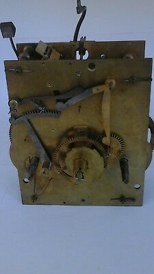 antique eight day longcase clock movement