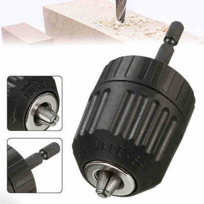 Adaptor Impact 0.8-10mm In Drill Driver Shank Keyless Chuck Converter Hex Tool