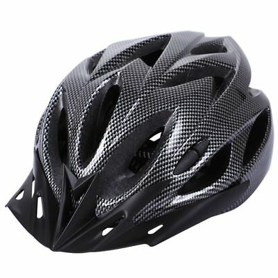 2X(Carbon Bicycle Helmet Bike MTB Cycling Adult Adjustable Unisex Safety He H8W5