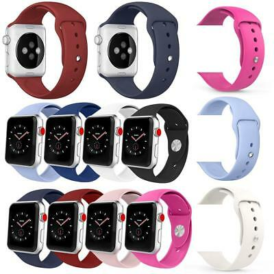 Silicone Replacement Sports Wrist Strap Watch Band Apple Watch iWatch 42mm 38mm