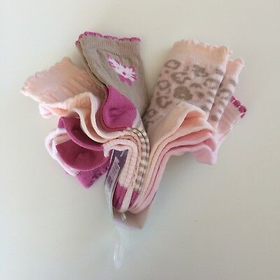 Baby Girls Toddlers Pink Assorted Socks Five Pairs MATALAN Size 3-5.5
