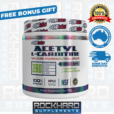 EHPLabs Acetyl L-Carnitine 100g Alcar Ehp Labs Crea8 OxyShred OxySleep Carnitine