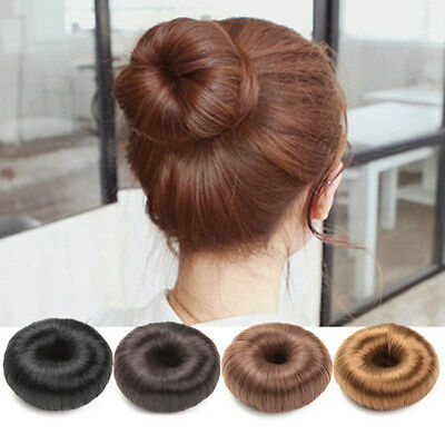 1x Pony Tail Extension Hairpiece Elastic Donut Ring Hair Bun Scrunchie Holder