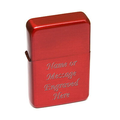 Red Engraved Christmas Xmas Petrol Lighter Personalised Birthday Gift