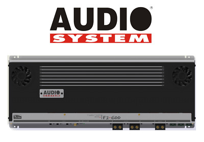 Audiosystem F2 600 Amplificatore 2 Canali 1500W Rms > Made In Italy