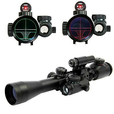 3-9x40 EG Red Green Rangefinder Riflescope w/Holographic Red Sight for Hunting