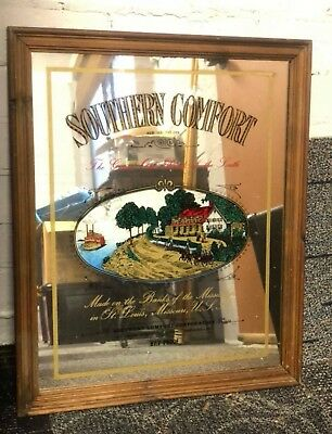 Vintage 1970s Southern Comfort mirror