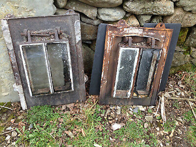 THREE Heavy cast iron roof windows.Antique.One large two small.Good for SECURITY