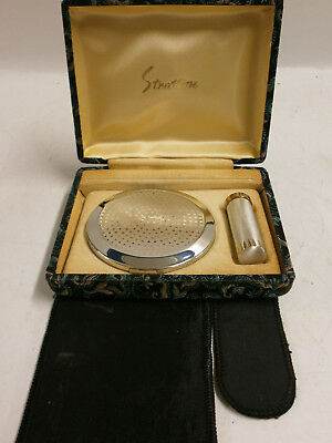 Stratton Compact And Lipstick Holder In Presentation Box