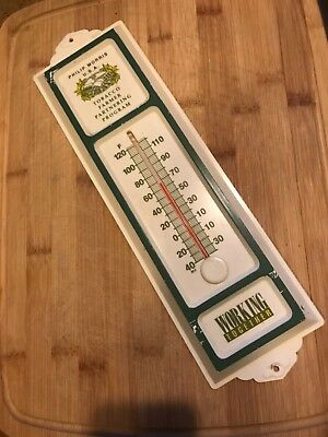 Vintage Philip Morris Tobacco advertising farm thermometer Sign
