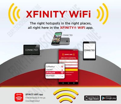Xfinity WiFi Hotspot Internet Access 1 Year Access END Monthly Internet Payments