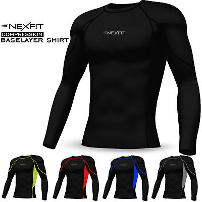 Mens Compression Top Shirt Base Layer Activewear Sports Under Skin Suit