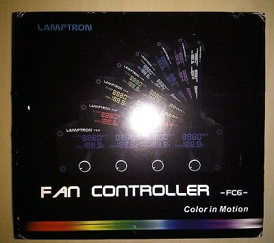 Lamptron FC6 4 Fan Controller 5.25 Front Bay Panel with Colour LCD Display PC