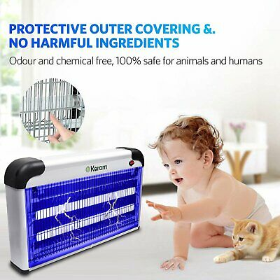 30W Electric UV Insect Killer Mosquito Fly Pest Zapper Catcher Trap LED Light