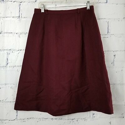 Cutter Craft Vintage 100% Wool Fabric 1960's A-Line Skirt cranberry red Lerner
