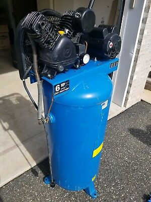 60 Gallon Stationary Electric Air Compressor Garage Industrial Vertical