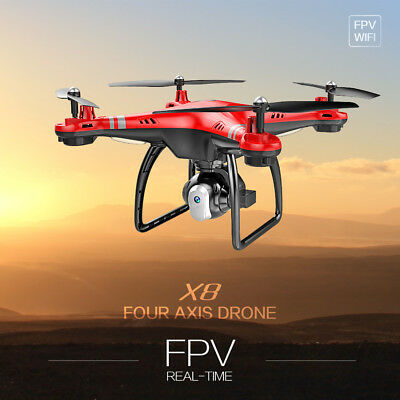 Wide-Angle X8 2.4GHz 6-Axis Drone FPV RC Wifi 720P HD Camera Quadcopter Hover