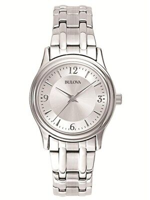 Bulova Women's Quartz Silver-Tone Stainless Steel Bracelet 30mm Watch 96L005
