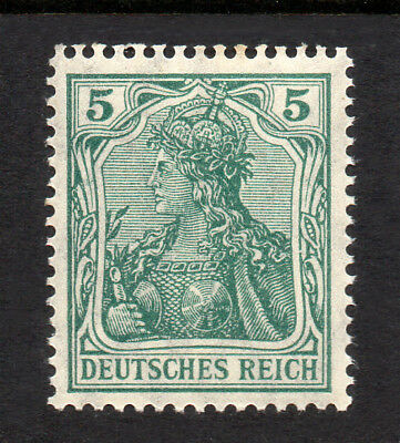 GERMANY REICH / EMPIRE 1905 Germania 5Pf Fine MINT NH SG.84 MNH