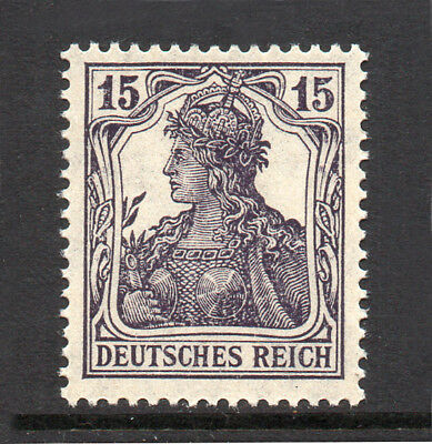 GERMANY REICH / EMPIRE 1917 Germania 15Pf Fine MINT NH SG.101 MNH