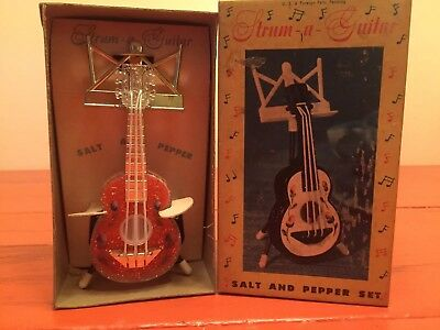 Vintage Strum A Guitar Salt And Pepper Set
