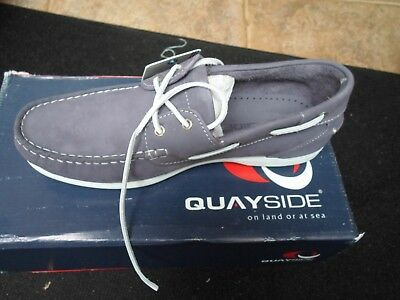 Quayside Bermuda Washable Leather Deck Shoes Size Uk 7 Rrp £99.99