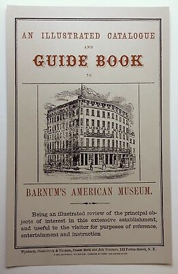 An Illustrated Catalogue and Guide Book - Barnum's American Museum Freak POSTER