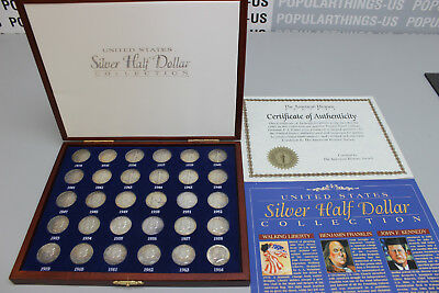 United States Silver Half Dollar Collection American Historic Society Set in Box