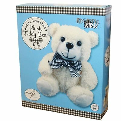 Kreative Kids Make Your Own Plush Teddy Bear - Sewing Kit - Ages 8+