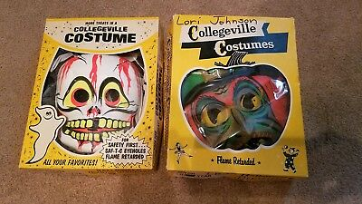 Vintage Halloween Witch and Skeleton Collegeville Costumes
