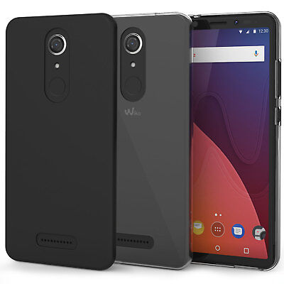 Ultra-Thin Matte Black Silicone Slim Gel Case Cover For Wiko View, XL & Prime