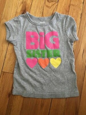 Carter's Big Sister Short Sleeve Top- Size 3t