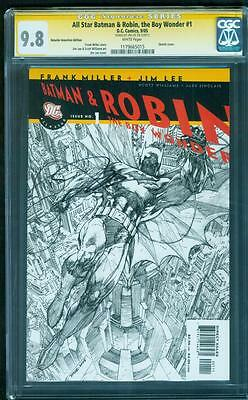 All Star Batman & Robin 1 RRP Sketch Variant CGC SS 9.8 Jim Lee Signed Miller