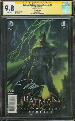 Batman Arkham Knight Genesis 1 CGC SS 9.8 Jim Lee Signed Variant Justice League