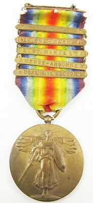 World War Victory Medal w/ 5 Clasps